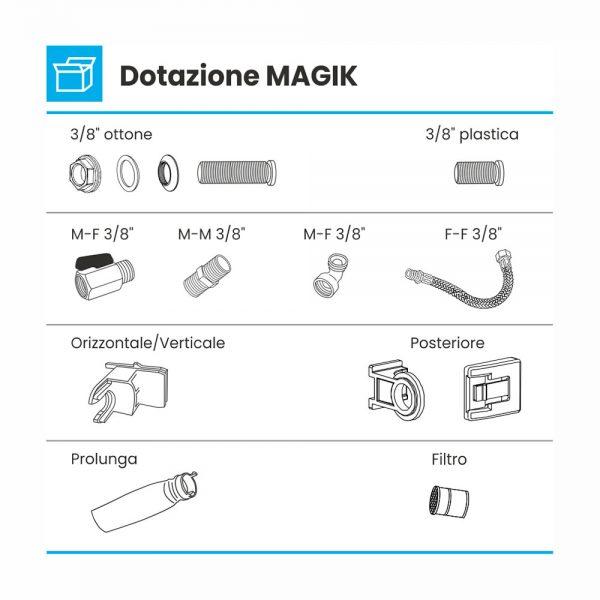 dotazione galleggiante silenzioso magik kit