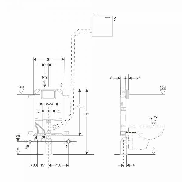 sistemi bagno evoluto bclean schema installazione telaiobsilent