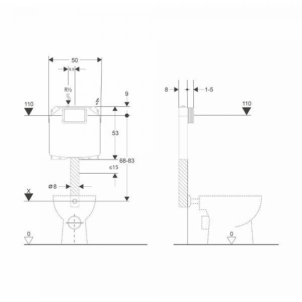 dati dimensionali cassetta wc andromenda plus