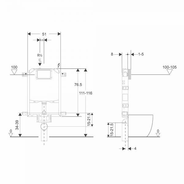 schema installazione wfm telaio bsilent