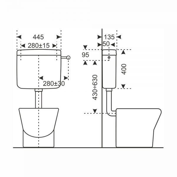 dati dimensionali cassetta esterna vela