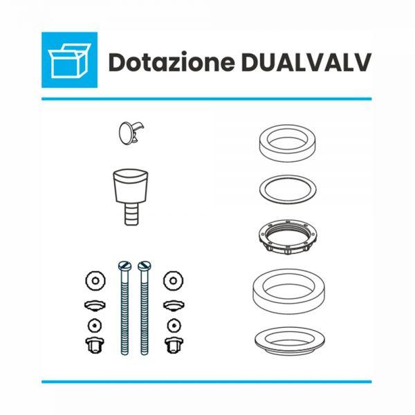 dotazioni valvola cassette monoblocco dualvalv
