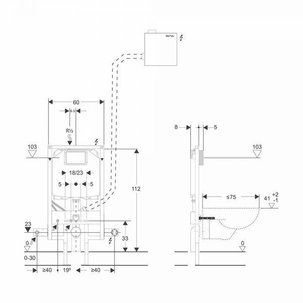 sistemi bagno evoluto bclean schema installazione telaionsilent heavy